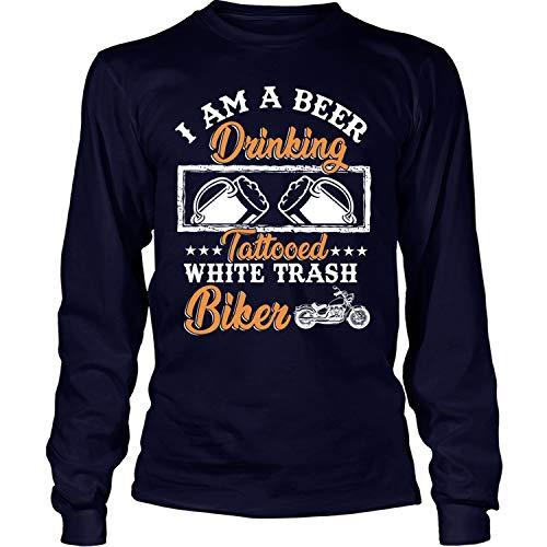 Tattooed White Trash Biker Long Sleeve Tees, I