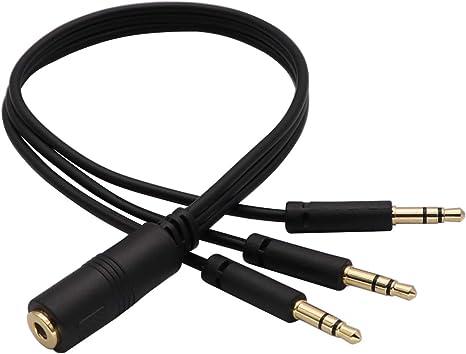 zdyCGTime- Cable Divisor de Audio de 3,5 mm y Audio estéreo de 3,5 mm