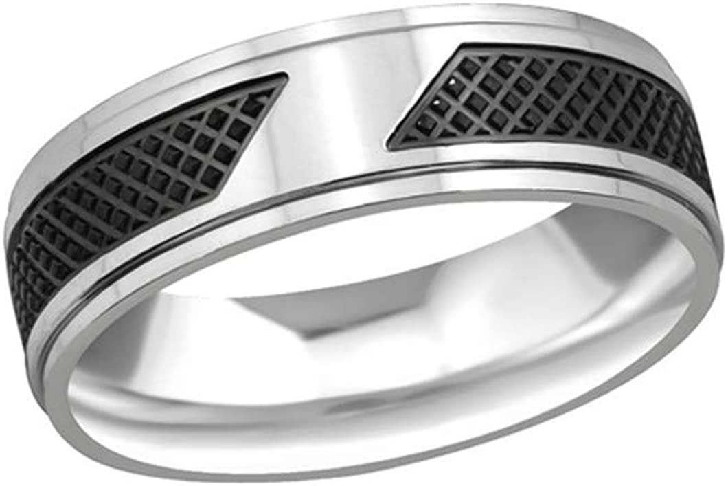Polished and Nickel Free Liara Two Tone Rings 316L Surgical Grade Stainless Steel