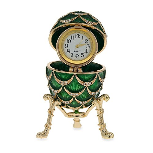 BestPysanky Royal Inspired Pinecone Russian Egg with Clock 2.7 Inches