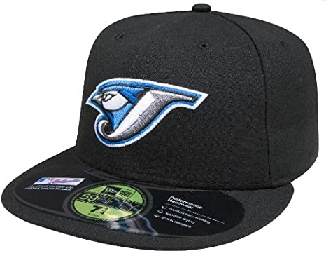 free shipping 653ae d0330 MLB Toronto Blue Jays Authentic On Field Game 59FIFTY Cap, Black, 6 7