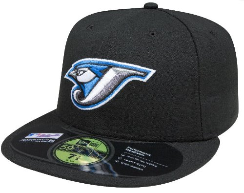 (MLB Toronto Blue Jays Authentic On Field Game 59FIFTY Cap, Black, 6 7/8)