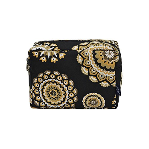 - NGIL Large Travel Cosmetic Pouch Bag Spring 2018 Collection (Mandala Dream Black)