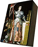 Catholic to the Max|St. Joan of Arc Cover, 4x6.5x2.5in Wooden Keepsake Rosary Jewelry Box, Suede Matte