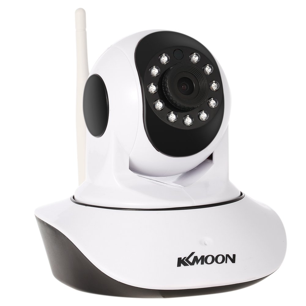 "KKmoon 720P Wireless WIFI Pan Tilt HD IP Camera 1.0MP 1/4"" CMOS 3.6mm Lens Support PTZ Two-way Audio Night Vision Phone APP Control Motion Detection with Temperature&Humidity Sensor"