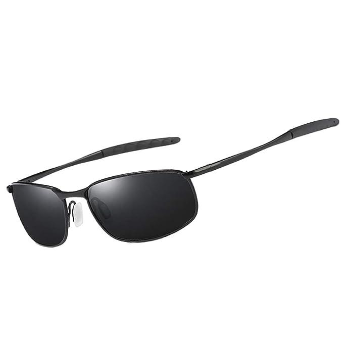 a4c2f0b664 FEIDU Gafas de sol polarizadas deportivas para hombres Gafas de sol  elegantes HD Metal Gafas para