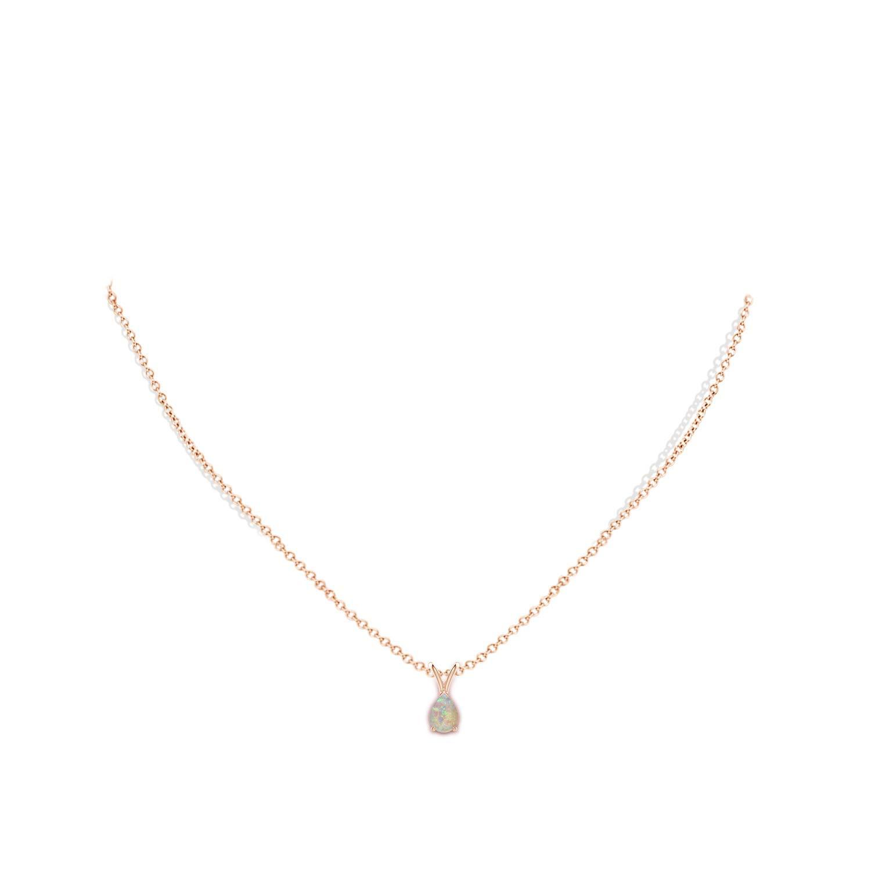 V-Bale Pear-Shaped Opal Solitaire Pendant 7x5mm Opal ANGARA ANG-P-SP0530OP-YG-AAAA-7x5