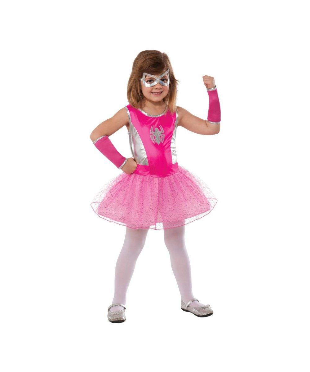 - 51K5iu S31L - Marvel Pink Spidergirl Spider Girl Girls Tutu Dress Halloween Costume