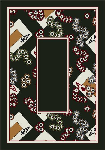 Activity Milliken Four - Activity Four-of-a-Kind Border Poker Novelty Rug Rug Size: 7'8