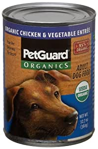 Pet Guard Organic Chicken & Vegetable Adult Dog Food, 12.7-Ounce Cans (Pack of 6)