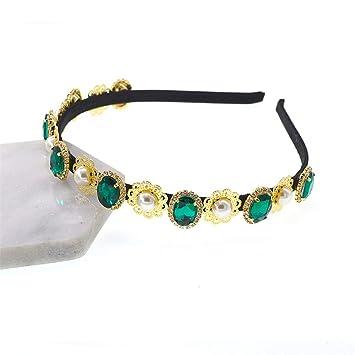 TOOGOO Baroque Luxury Silver Crystal Star Pearls Bridal Tiaras Crown Rhinestone Diadem Pageant Crowns Headband Wedding Hair Accessories