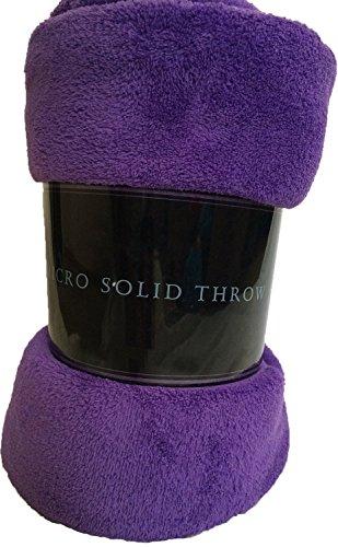 - Luxury Discounts Warm & Cozy Soft Plush Solid Fleece Throw Blanket (50