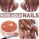 Stylazo 2g Rose Gold Nail Mirror Metallic Effect Chrome Powder Dust Pigments Nail Art Decoration