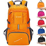 Cheap ZOMAKE Ultra Lightweight Hiking Backpack, 35L Foldable Water Resistant Travel Daypack Packable Backpack Outdoor Camping(Orange)