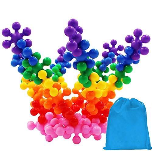 Kids 120 Pieces Building Blocks Toys, Aiernuo Interlocking