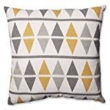 Pillow Perfect Ikat Argyle Floor Pillow, 24.5-Inch, Birch