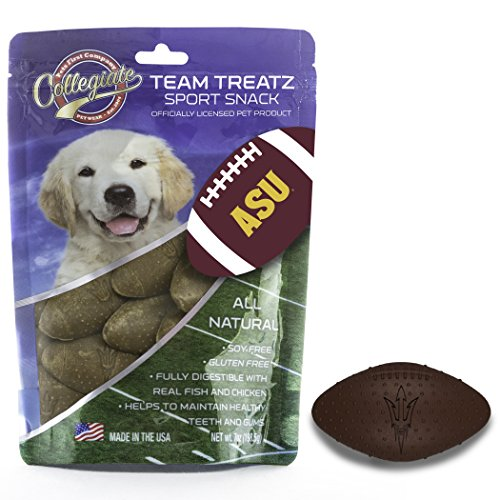 - Pets First Collegiate Pet Accessories, Dog Treats, Arizona State Sun Devils, 7 Oz