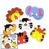 Foam Zoo Animal Masks Craft Kit (Makes 12 Animals) by Fun Express