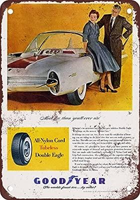 Cartel de Metal con Aspecto Vintage de neumáticos de ...