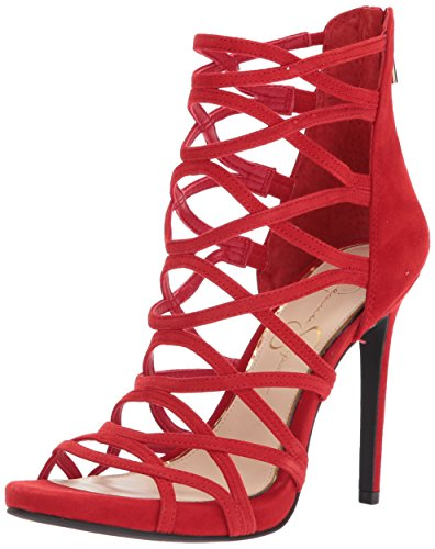 Jessica Simpson Womens Razella Pump Red Mousse 0U9CSdiqc
