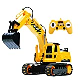 GearRoot RC Excavator Toy for Boys 2.4Ghz Remote Control Tractor Rechargeable Battery Excavator Toy...