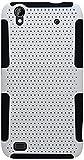 zte quartz protective phone case - Eagle Cell ZTE Quartz Z797C Hybrid TPU Mesh Protective Case - Retail Packaging - Black/White
