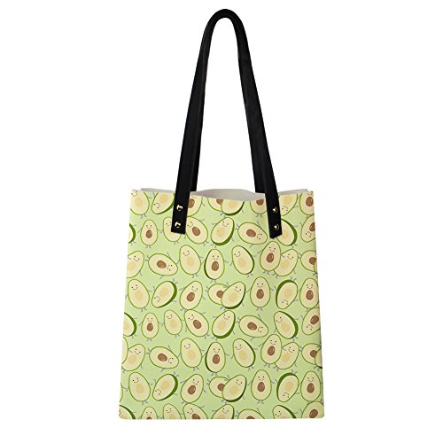 Print Fruit Handle Instantarts Shoulder Summer Satchel Top Bags Avocado 2 Women Leather SEHZHx