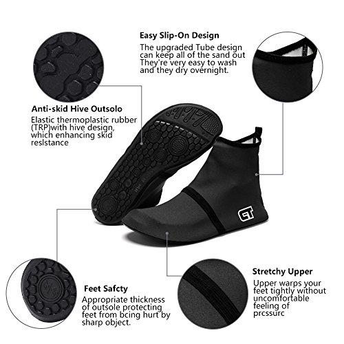 CIOR Men Women and Kids Water Shoes Barefoot Skin Shoes Anti-Slip For Beach Pool Surf Swim Exercise Sneaker S.black 03 CvPDbac