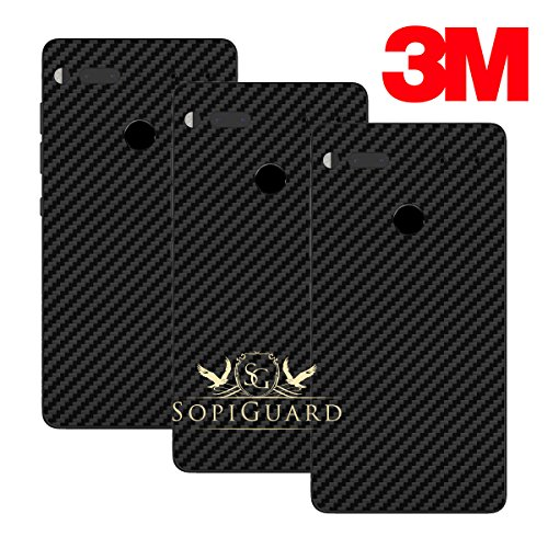 SopiGuard Essential Phone PH1 Carbon Fiber Rear Panel Precision Edge-to-Edge Coverage Easy-to-Apply Vinyl Skins (3 x 3M Carbon Black)