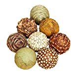 Benzara 42950 Natural Ball for Short Spaces on Tables Or Shelves, Set of 8