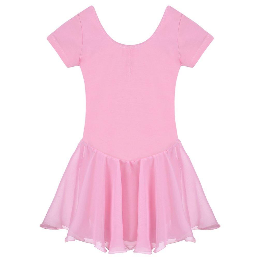 Arshiner Girls' Dance Leotard Ruffle Sleeve Dress *AS001646
