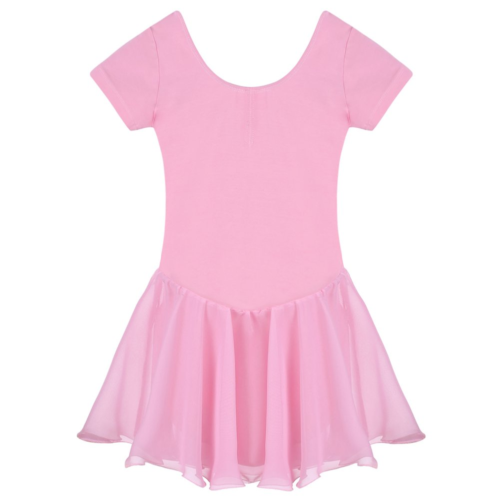 Arshiner ガールズ フリル付きレオタード B071RL73KP 12(Age for 3-4Y)|Pink(fba) Pink(fba) 12(Age for 3-4Y)