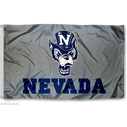 Nevada Wolfpack Silver Wolf Flag For Sale
