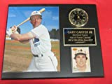 Gary Carter Montreal Expos Collectors Clock Plaque w/8x10 Photo and Card
