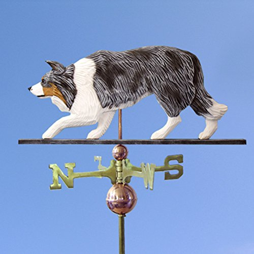 Border Collie Hand Carved Hand Painted Basswood Dog Weath...