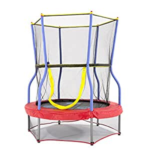 """Skywalker Trampolines 48"""" Round Zoo Adventure Trampoline Mini Bouncer with Enclosure"""