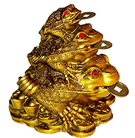 Crocon Chinese Feng Shui Turtle Family Symbol for Long Life Prosperity Home Wealth Decoration Tabletop Good Lucky Spiritual Gifts