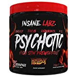Insane Labz Hellboy Edition, High Stimulant Pre Workout Powder and NO Booster with Beta Alanine, L Citrulline, and Caffeine, Boosts Focus, Energy, Endurance, Nitric Oxide Levels, 35 Srvgs, Fruit Punch