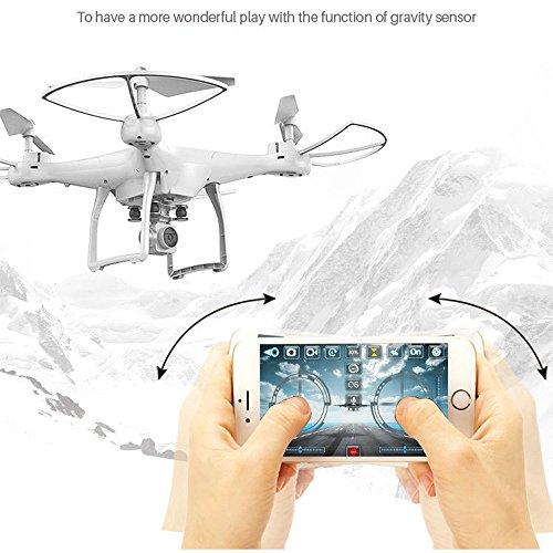 - Kanzd X10 2.4Ghz Quadcopter Camera WiFi FPV Headless Mode Altitude Hold RC Drone (White)
