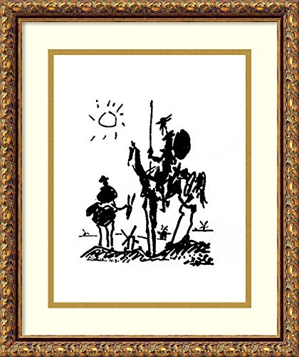 Framed Art Print 'Don Quixote' by Pablo Picasso