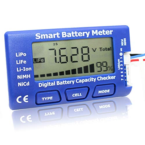 EYESKY 5-in-1 Battery Meter Intelligent Cell Meter Digital Battery Checker Battery Balancer for LiPo LiFePO4 Li-ion NiCd NiMH Battery Packs ... (qa) ()