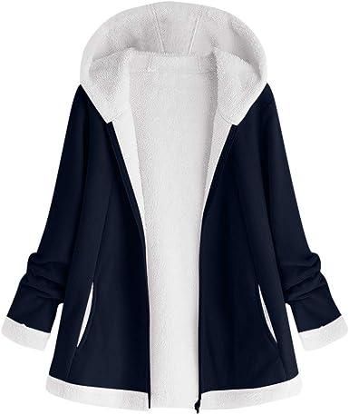 OPALLEY⭐ Manteau Femme en Peluche Sweats à Capuche Fourré