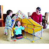 Discovery Kids 72 Pc Build & Play Construct Fort, Tent Tunnel Playhouse