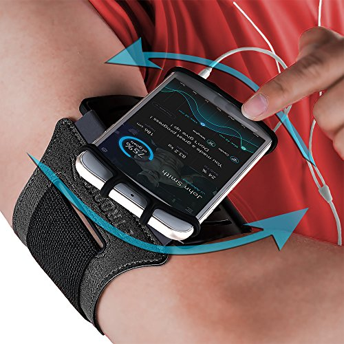 Sports Armband: Cell Phone Holder Case Arm Band Strap Pouch Mobile Exercise Running Workout For Apple iPhone 6 6S 7 8 X Plus Touch Android Samsung Galaxy S5 S6 S7 S8 S9 Note 8 5 Edge Pixel (Rotatable)]()