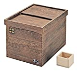 JapanBargain Japanese Wooden Rice Container Stocker, H-5550, 22 lb.