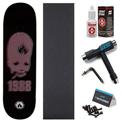 Black Label Deck - Black Label Thumbhead 1988 Skateboard Deck - 8.75