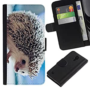 All Phone Most Case / Oferta Especial Cáscara Funda de cuero Monedero Cubierta de proteccion Caso / Wallet Case for Samsung Galaxy S4 IV I9500 // The Friendly Hedgehog