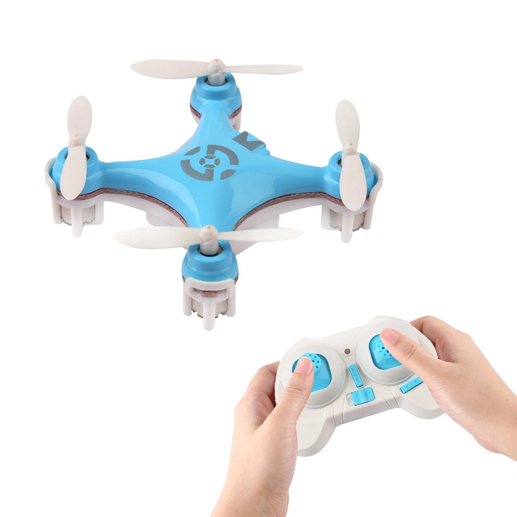 Cheerson CX-10 Mini RC Quadcopter 2.4G 4CH 6 Axis Gyro Nano Drone with Headless Mode, 360 Degree Flips and LED Lights (Blue)