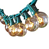 Tools & Hardware : Escolite G40 String Lights Indoor Outdoor for Wedding Lights, Bedroom Lighting, Patio Lights Green
