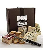 igourmet Blue Cheese and Crackers Assortment in Gift Box - Blue cheese collection in a gift box consisting of the world's best blue cheeses, and includes a gourmet cheese knife